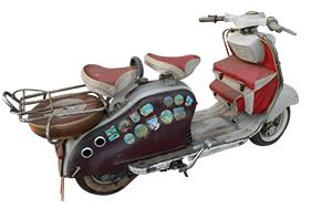 Scooter Lambretta avec remorque d'origine – 1960